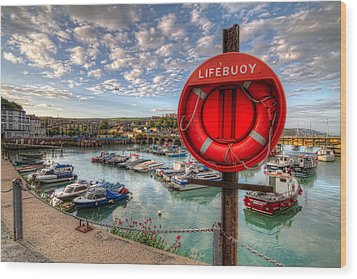 Folkstone Harbour Wood Print by Tim Stanley