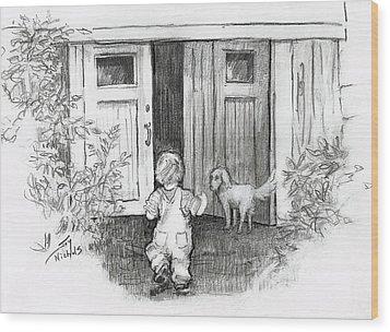 Follow Me Wood Print by Joy Nichols