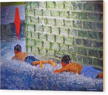 Follow The Leader Wood Print by Michael Durst