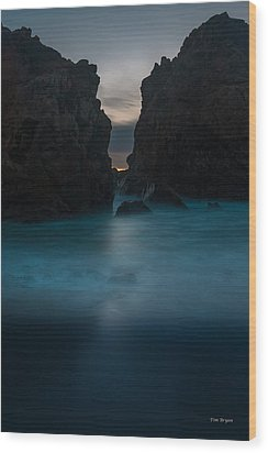Follow The Light.... Big Sur Wood Print by Tim Bryan
