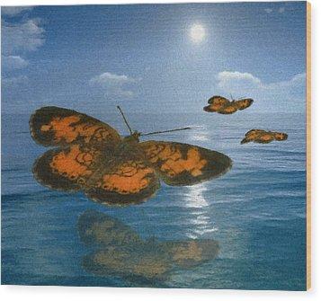 Follow The Sun Wood Print by Jack Zulli