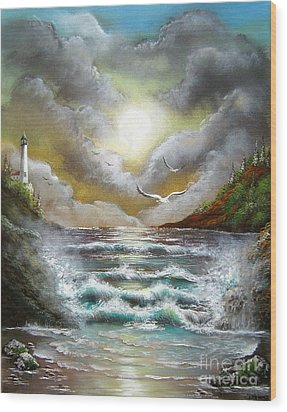 Wood Print featuring the painting Follow The Wind by Patrice Torrillo