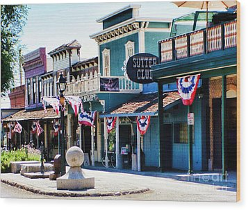 Wood Print featuring the photograph Folsom California Usa by Polly Peacock