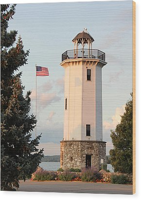 Fond Du Lac Lighthouse  Wood Print