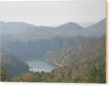 Fontana Lake Fall View Wood Print