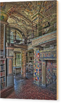 Fonthill Castle Library Room Wood Print by Susan Candelario