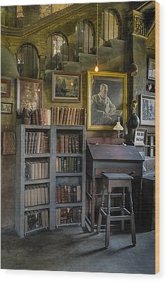 Fonthill Castle Saloon Wood Print by Susan Candelario
