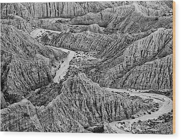 Wood Print featuring the photograph Font's Point - Great American Southwest Landscape by Photography  By Sai