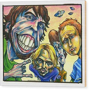 Foo Fighters Wood Print