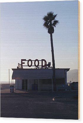 Food With Palm Wood Print by Mark Barclay