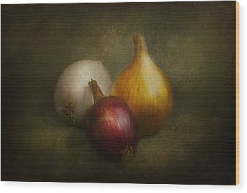 Food - Onions - Onions  Wood Print by Mike Savad