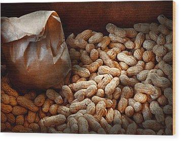 Food - Peanuts  Wood Print by Mike Savad