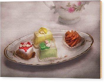 Food - Sweet - Cake - Grandma's Treats  Wood Print by Mike Savad