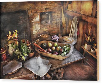 Food - The Start Of A Healthy Meal  Wood Print by Mike Savad