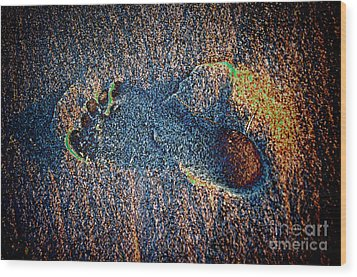Wood Print featuring the photograph Foot In The Sand by Mariola Bitner
