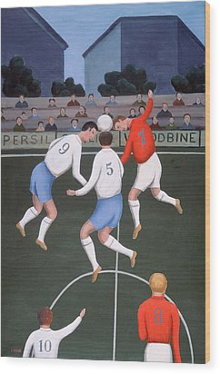 Football Wood Print by Jerzy Marek