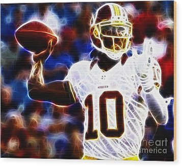 Football - Rg3 - Robert Griffin IIi Wood Print by Paul Ward