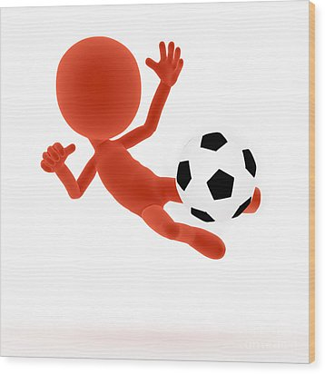 Football Soccer Shooting Jumping Pose Digital Art By