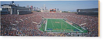 Football, Soldier Field, Chicago Wood Print by Panoramic Images