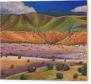Foothill Approach Wood Print by Johnathan Harris
