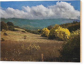 Foothill Autumn In Southern Oregon Wood Print by Mick Anderson