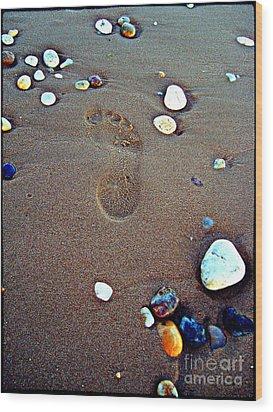 Footprint Wood Print by Nina Ficur Feenan