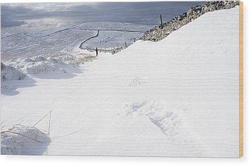 Footprint Wood Print by Riley Handforth