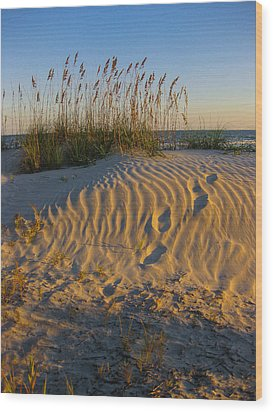 Footprints Wood Print by Patricia Schaefer