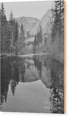 Footsteps Of Ansel Adams Wood Print