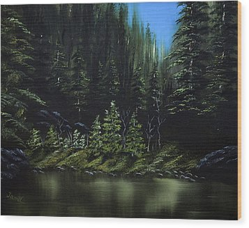 For Ever Green Wood Print by Jamil Alkhoury