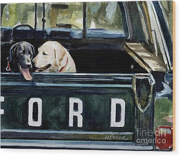 For Our Retriever Dogs Wood Print by Molly Poole