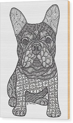 For The Love - French Bulldog Wood Print