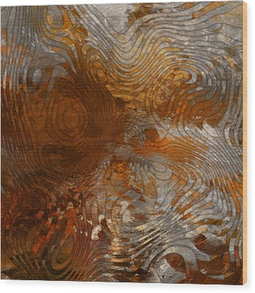 For The Love Of Rust Wood Print by Jack Zulli
