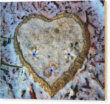 For The Love Of Winter Wood Print by Deena Stoddard
