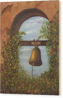 For Whom The Bell Tolls Sold Wood Print by Susan Dehlinger