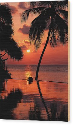 For You. Dream Coming True I. Maldives Wood Print by Jenny Rainbow