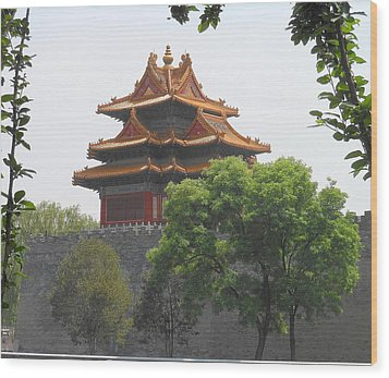 Forbidden City Building 3 Wood Print by Kay Gilley