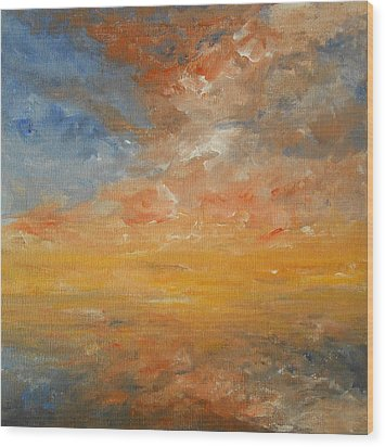 Wood Print featuring the painting Force Of Nature 2 by Jane  See
