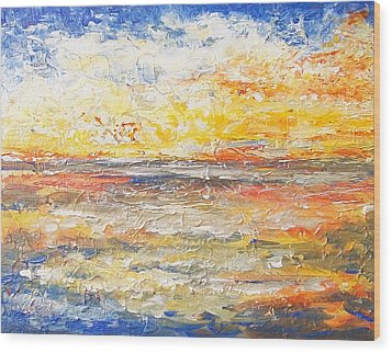 Wood Print featuring the painting Force Of Nature 5 by Jane  See