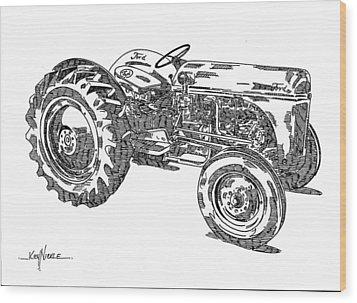 Ford 8n Tractor Wood Print by Ken Nickle