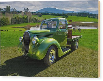 Ford Barrel Nose Pickup Wood Print by Keith Hawley
