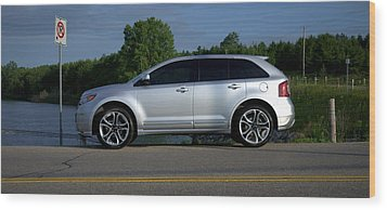 Ford Edge Sport Wood Print by Rob Andrus