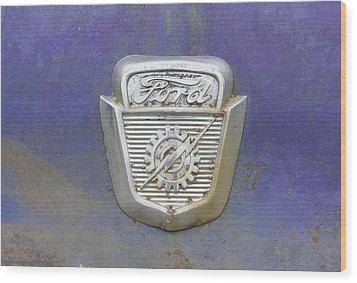 Ford Emblem Wood Print
