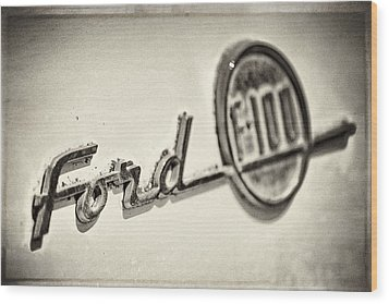 Ford F-100 Wood Print by Caitlyn  Grasso