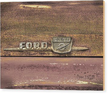 Ford F-100 Wood Print by Thomas Young