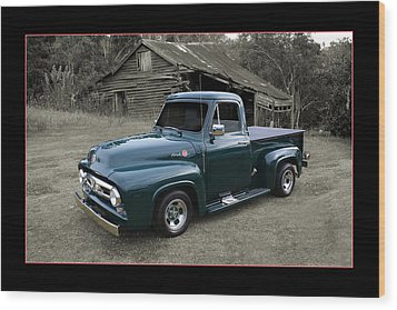 Wood Print featuring the photograph Ford F100 by Keith Hawley