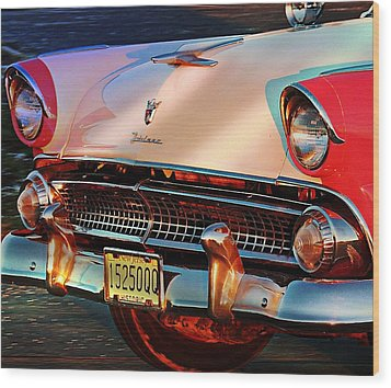 Wood Print featuring the photograph Ford Fairlane by Allen Beilschmidt