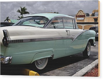 Ford Fairlane Profile Wood Print by Andres LaBrada