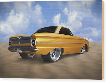 Ford Falcon Wood Print by Mike McGlothlen