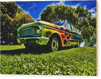 Ford Falcon Station Wagon Wood Print by motography aka Phil Clark